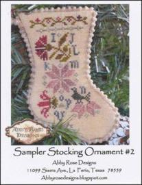 Abby Rose Designs - Sampler Stocking Ornament 2