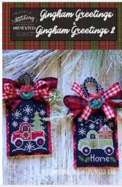 Stitching with the Housewives - Gingham Greetings & Gingham Greetings 2