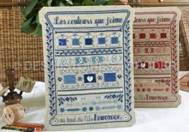 Des Histoires à Broder - Les couleurs que j'aime - Bleu (de kleuren waarvan ik hou - bleu)