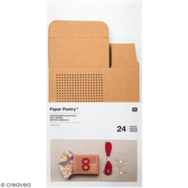 Rico - Kartonnen geschenkdoosjes (bruin karton)