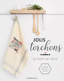 Boek - Jolis torchons au point de Croix (Isabelle Haccourt Vautier)