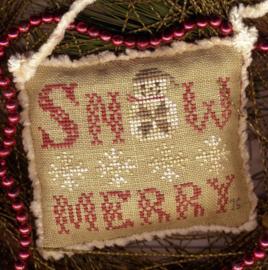 "Homespun Elegance - Santa Ornament - ""Snow Merry II"""