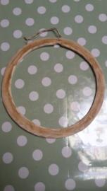 Cadre rond en bois (diam. 16 cm)
