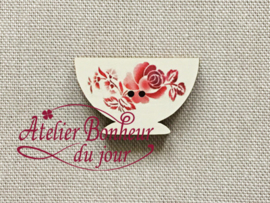 Atelier Bonheur du Jour - Digoin - Kommetje (rood)