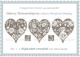 Marjorie Massey - Coeurs romantiques (H-11) (Romantische hartjes)