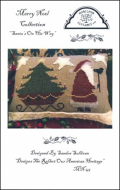 "Homespun Elegance - Merry Noël Collection ""Santa's on his way"""