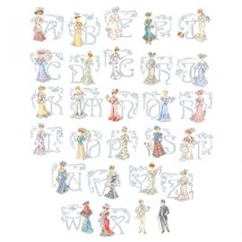 """Les Brodeuses Parisiennes - Le grand ABC """"Belle Epoque"""""""