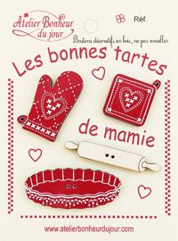 """Atelier Bonheur du Jour - Collection """"Les bonnes tartes de Mamie"""""""