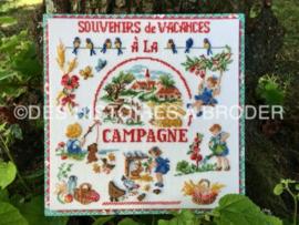 """Des Histoires à broder - Souvenir de vacances """"A la campagne"""" (kit)"""