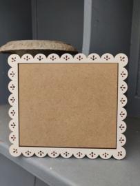 "Atelier Bonheur du Jour - Houten kader ""Dentelles"" (rechthoekig ecru)"