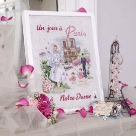 Les Brodeuses Parisiennes - Un jour à Paris à Notre-Dame (linnen)
