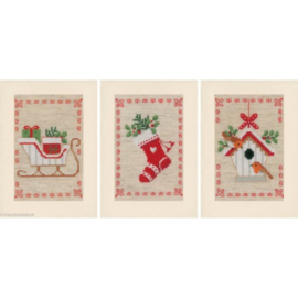 Vervaco - Kerstmotiefjes (3 kerstkaarten)