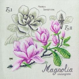 Les Brodeuses Parisiennes - Etude Magnolia (lin)