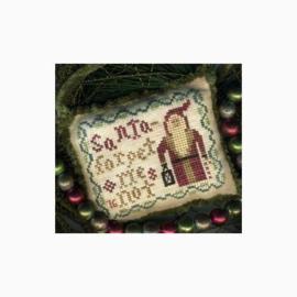 "Homespun Elegance - Santa Ornament - ""Forget Me Not"""