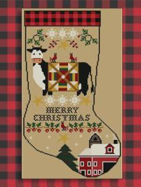 "Twinpeak Primitives - Rustic Christmas Series ""Stocking III"