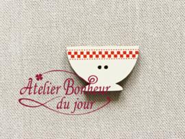 Atelier Bonheur du Jour - Bol damier rouge (Kom rood)