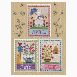 Waxing Moon Designs - Monthly Trios : April, May, June