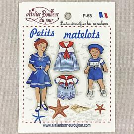 """Atelier Bonheur du Jour -  """"Petit matelots"""" (P-53)"""