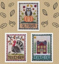 Waxing Moon Designs - Monthly Trios : October, November, December