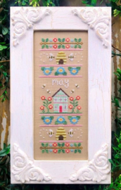 """Country Cottage Needleworks - """"May Sampler"""" (Sampler of the Month)"""