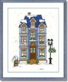 Liebevolle Kreuzstichentwürfe - W-95-15 Winterhaus 2