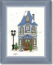 Liebevolle Kreuzstichentwürfe - W-96-15 Winterhaus 3