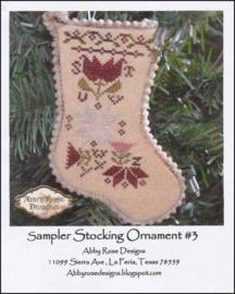 Abby Rose Designs - Sampler Stocking Ornament 3