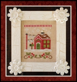 Country Cottage Needleworks - Santa`s House - North Pole Post Office (nr. 3)