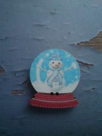 """Atelier Bonheur du Jour -  """"Sneeuwbal met sneeuwman"""""""