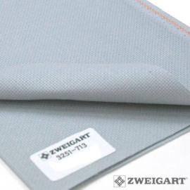 Precut - Zweigart  -  Aïda (5.4 st/cm of 14 count) - kleur 713 - Pewter