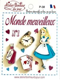 """Atelier Bonheur du Jour - Pochette """"Monde Merveilleux"""""""