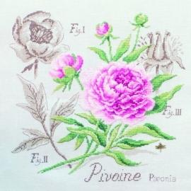 Les brodeuses Parisiennes - Etude à la Pivoine (linnen)