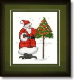 Liebevolle Kreuzstichentwürfe - M-369-15 - Weihnachtsmanns Baum