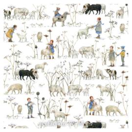 Acufactum stoffen - Winterkinder + schapen