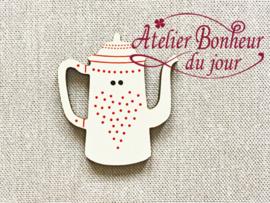 Atelier Bonheur du Jour - Cafetière pois rouge (Koffiekan rood)