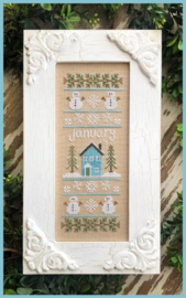 Country Cottage Needlework - January Sampler (Sampler of the month)