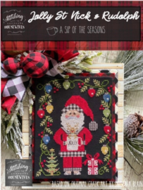 Stitching with the Housewives - Jolly St. Nick & Rudolph