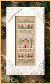 """Country Cottage Needleworks - """"October Sampler"""" (Sampler of the Month)"""