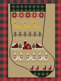"Twinpeak Primitives - Rustic Christmas Series ""Stocking II"""