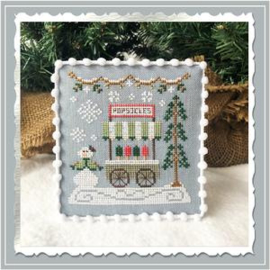"Country Cottage Needleworks - Snow Village - ""Popsicle Cart"" (nr. 6)"