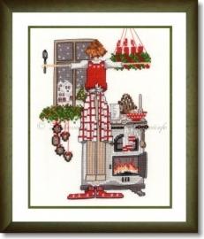 Liebevolle Kreuzstichentwürfe - W-82-15 -Kleine Lulu zu Weihnachten 2015