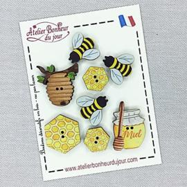 """Atelier Bonheur du Jour -  """"Les abeilles"""" (B-14)"""