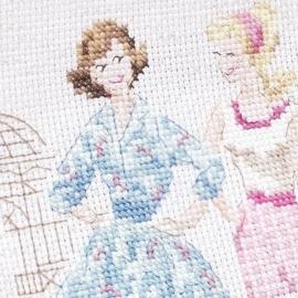 """Les Brodeuses Parisiennes - Sac """"Jardin des Plantes"""" (aïda)"""