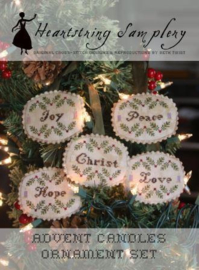 Heartstring Samplery - Advent Candles Ornament set