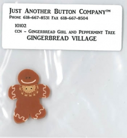 Just another button - Gingerbread Girl & Peppermint Tree-  nr. 2