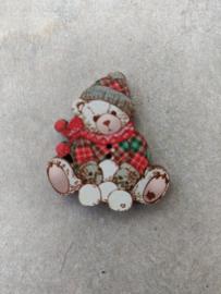 "Atelier Bonheur du Jour -  Teddybear ""Sneeuwbal"""