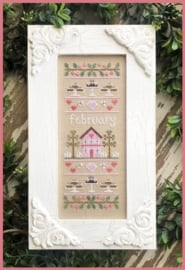 Country Cottage Needlework - February Sampler (Sampler of the month)
