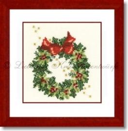 Liebevolle Kreuzstichentwürfe - Weihnachtskkranz