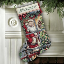 Dimensions - Candy Cane Santa Stocking