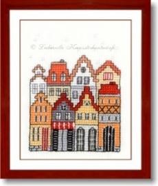 Liebevolle Kreuzstichentwürfe - M-372-15 - Kleine stadt 1